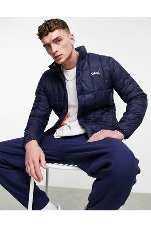 Schott NYC Alabama lightweight square quilt puffer jacket in navy