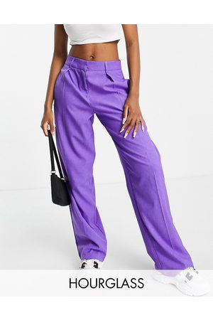 ASOS Hourglass everyday slouch boy trousers in pop purple