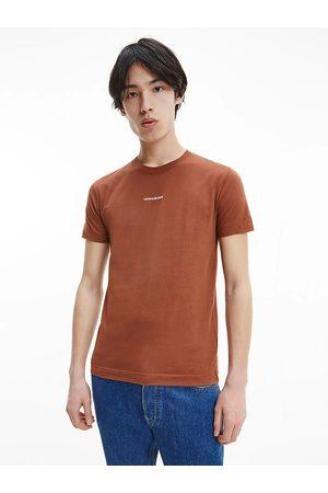 Calvin Klein Muži Trička - Administrovat hnědé tričko
