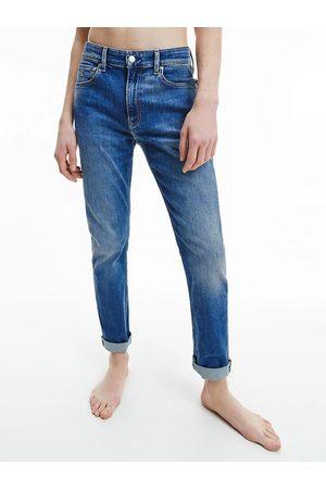 Calvin Klein Muži Kalhoty - Pánské modré džíny Taper