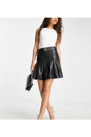 River Island Pleated mini skirt in black