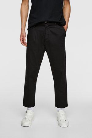 Zara Muži Chino - Kalhoty chino se záševky