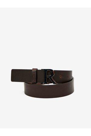 Replay Tmavě hnědý dámský kožený pásek