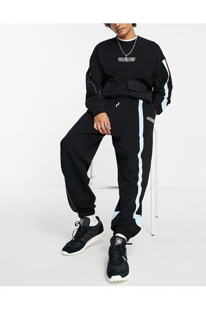 Crooked Tongues Co-ord panel jogger in black