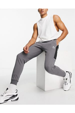 PUMA Muži Tepláky - CLSX joggers in grey and black