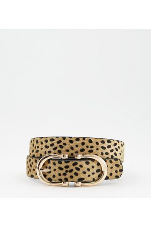 Glamorous Ženy Pásky - Exclusive waist and hip jeans belt in cheetah print with gold hardware-Multi