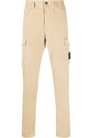 Stone Island Muži Rovné nohavice - Logo-patch straight-leg trousers