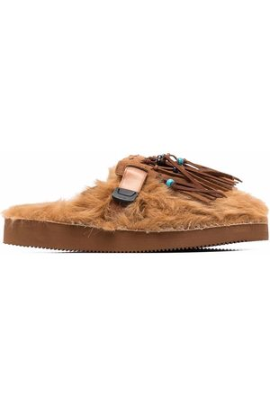 Alanui Fringed faux-fur slippers
