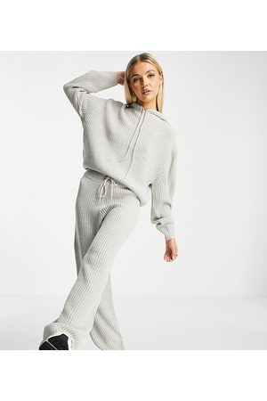 COLLUSION Knitted tracksuit joggers in grey
