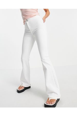 Topshop Stretch flare jeans in wash-White