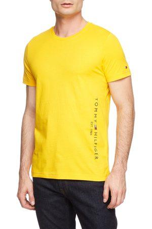 Tommy Hilfiger Muži Trička - Pánské žluté triko Flag side