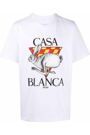 Casablanca Logo-print organic cotton T-shirt