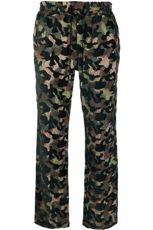 JUST DON Camouflage-print straight leg trousers