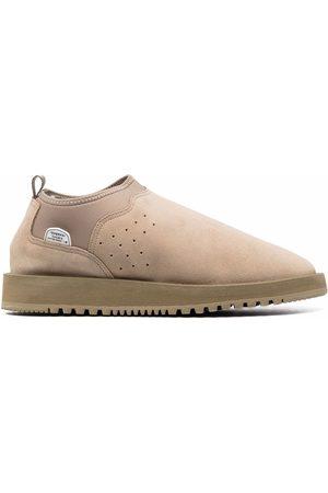 SUICOKE Ron shearling-trim slippers