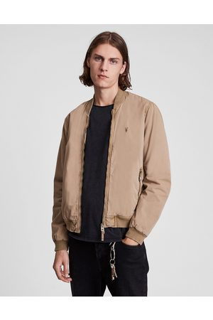 AllSaints Muži Bombery - Lows bomber in taupe-Brown