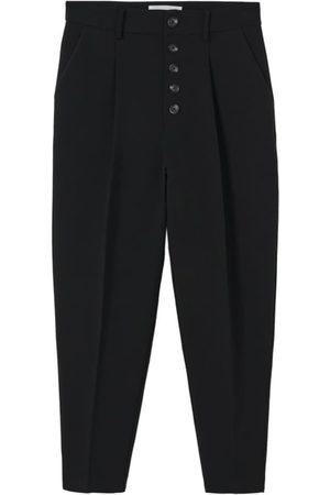 MANGO Ženy Společenské - Kalhoty s puky 'Luca