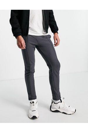 JACK & JONES Intelligence textured skinny fit joggers in grey