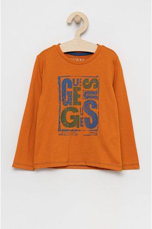 Guess Dětská bavlněná košile s dlouhým rukávem
