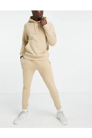 Topman Co-ord jogger in stone-Neutral