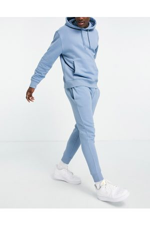 Topman Co-ord jogger in washed blue