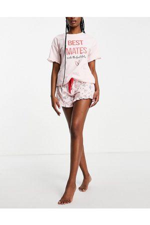 Ann Summers Best mates pyjama set in pink