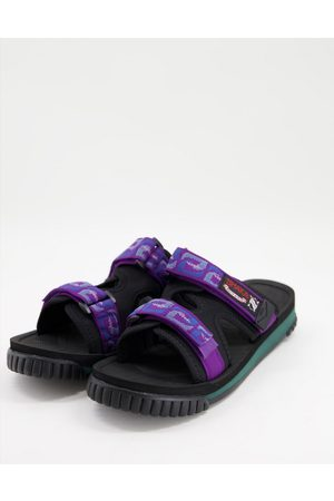 Shaka Chill out sliders in purple