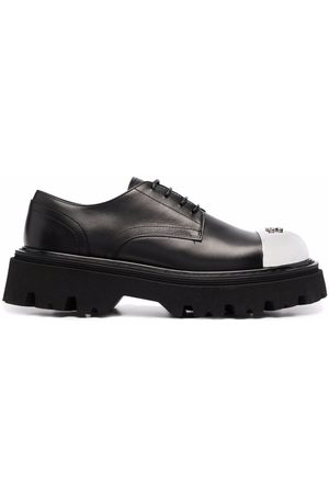 Casadei Metallic toe-cap oxford shoes