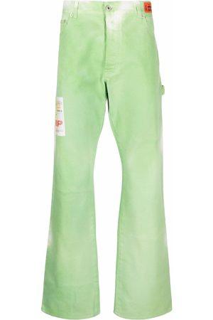 Heron Preston Tie-dye straight-leg trousers