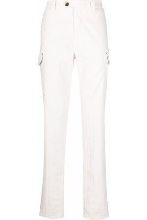 Brunello Cucinelli Tonal stripe cargo trousers