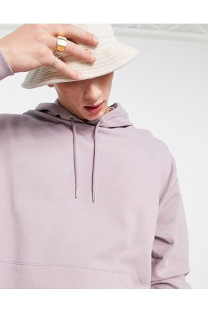 ASOS Oversized hoodie in washed purple