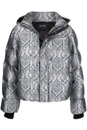 Daily Paper Lotan metallic puffer jacket