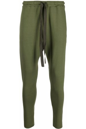 Alchemy Drawstring-waist tapered trousers