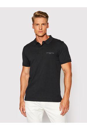 Tommy Hilfiger Muži S límečkem - Pánské černé polo tričko