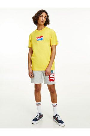 Tommy Hilfiger Muži Trička - Pánské bílé žluté BLOCK GRAPHIC