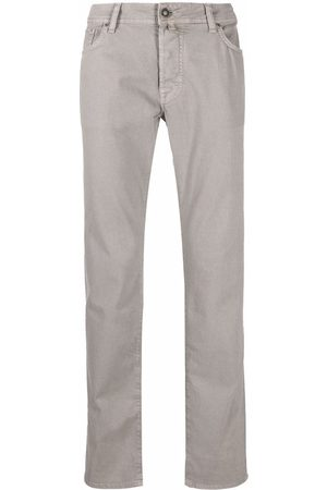 Jacob Cohen Muži Rovné nohavice - Mid-rise straight-leg trousers