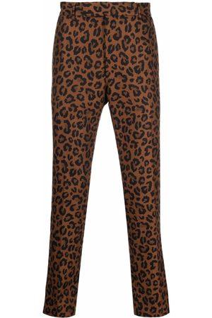 PT01 Leopard-print chinos