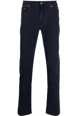 Jacob Cohen Muži Úzké nohavice - Slim-cut cotton-blend trousers