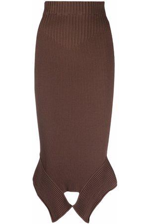 Adamo Ženy Asymetrické - High-waist asymmetric-hem skirt