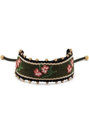 Tory Burch Stud-detail embroidered bracelet