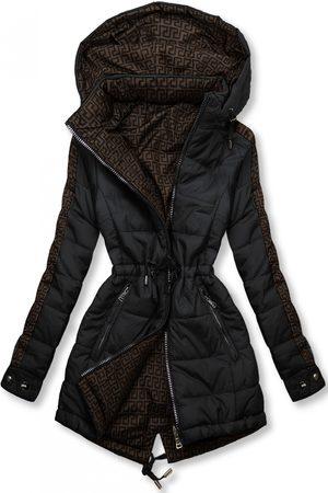 VaE Ženy Péřové bundy - Černá/hnědá oboustranná bunda s výplní