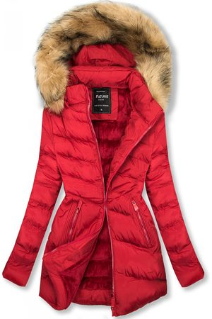 VaE Prošívaná přechodná bunda červená