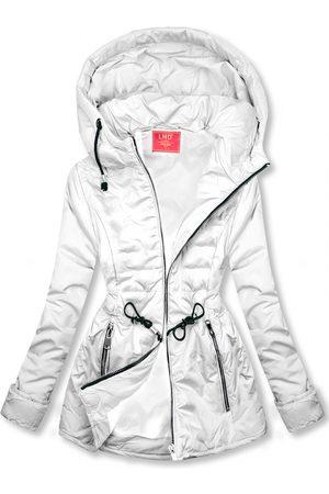 VaE Ženy Péřové bundy - Bílá prošívaná lehká bunda