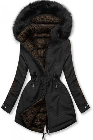 VaE Ženy Péřové bundy - Černá prošívaná oboustranná bunda