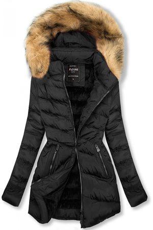 VaE Ženy Péřové bundy - Prošívaná přechodná bunda černá