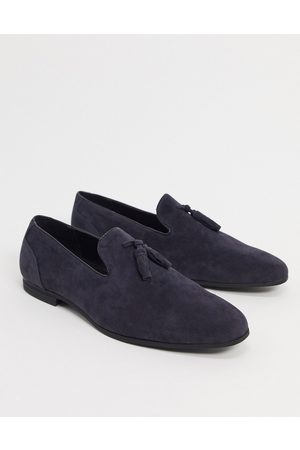 ASOS Loafers in navy faux suede