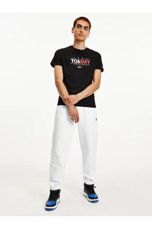 Tommy Hilfiger Muži Trička - Pánské černé triko ESSENTIAL GRAPHIC