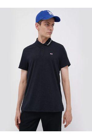 Tommy Hilfiger Muži S límečkem - Pánské černé polo triko
