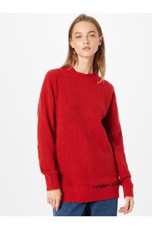 Tommy Jeans Ženy Svetry - Dámský červený svetr LOFTY TURTLENECK