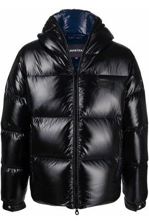 Duvetica Muži Péřové bundy - Logo-patch glossy puffer jacket