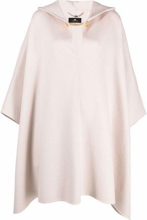 Elisabetta Franchi Wool-blend cape-coat